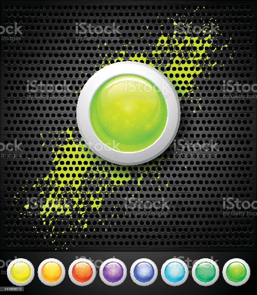 buttons and metall background royalty-free stock vector art