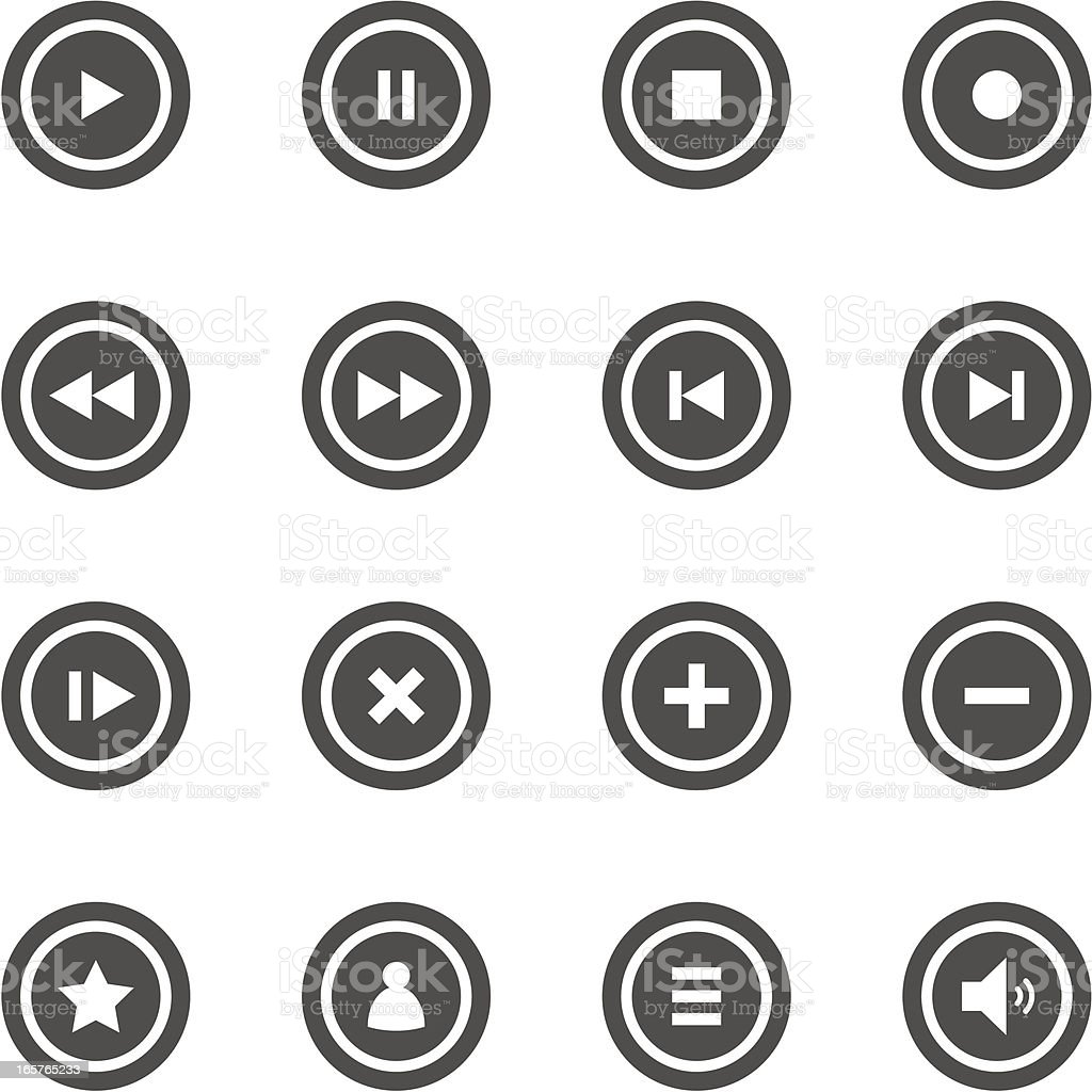 Buttons collection vector art illustration