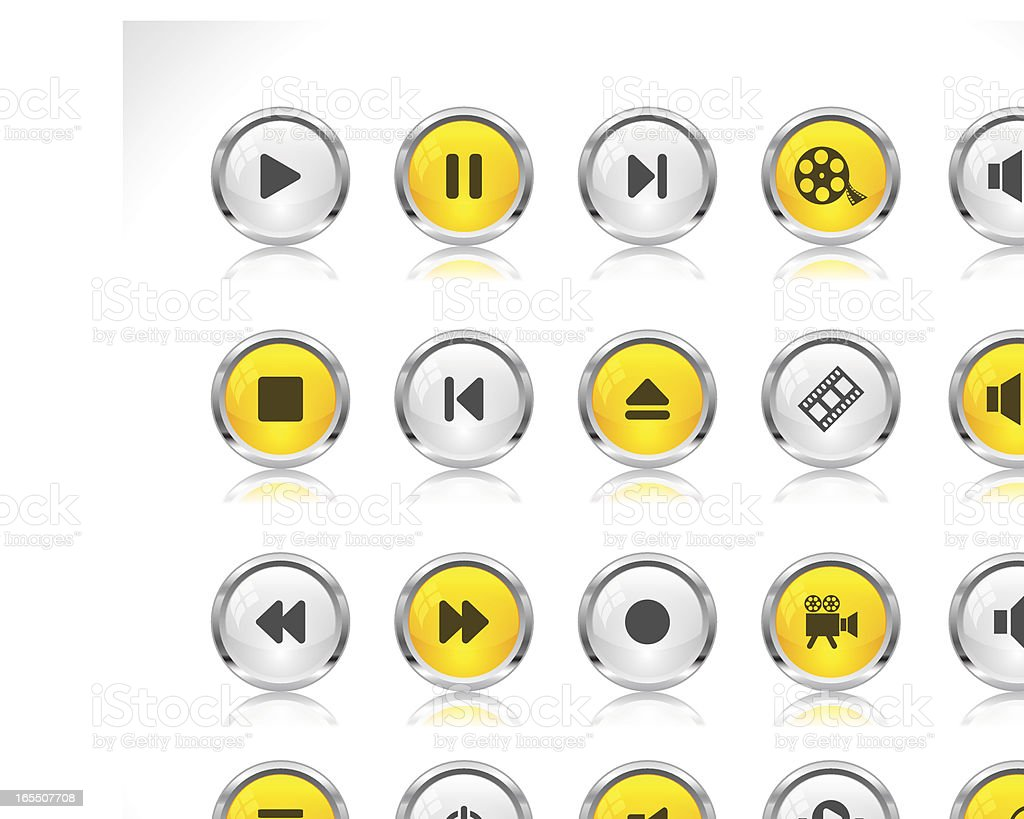 Buttons for web royalty-free stock vector art