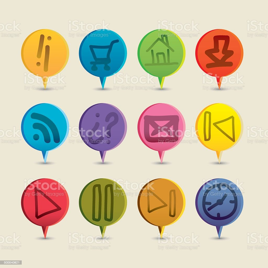 buttons of sketches royalty-free stock vector art