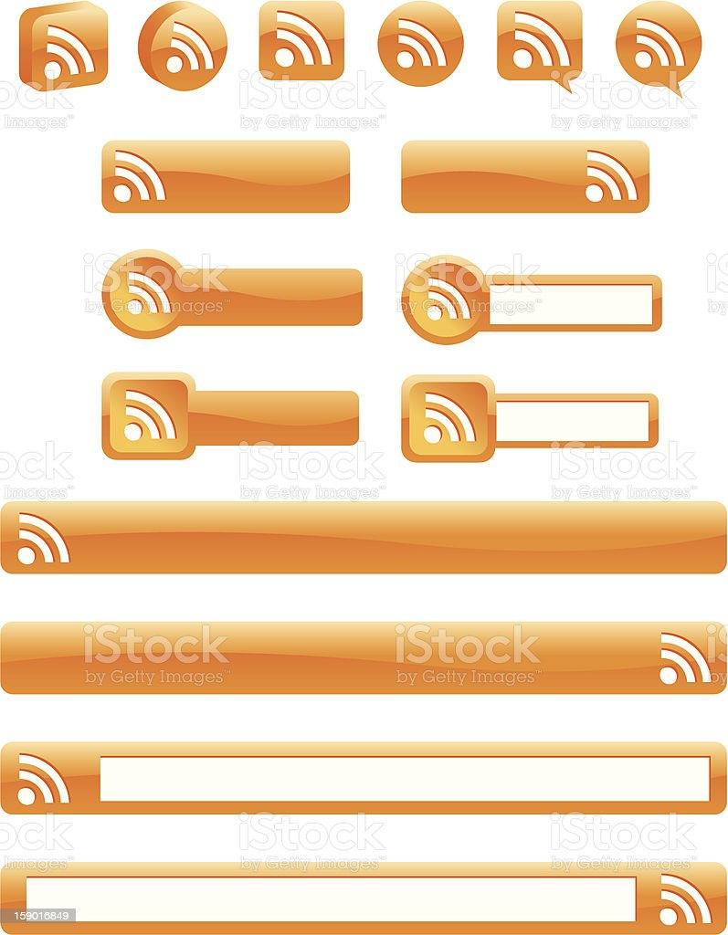 RSS Buttons stock photo