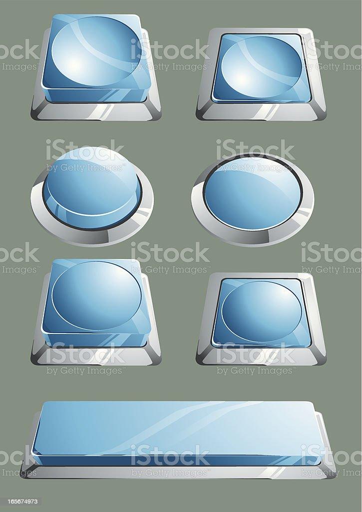 3D buttons vector art illustration