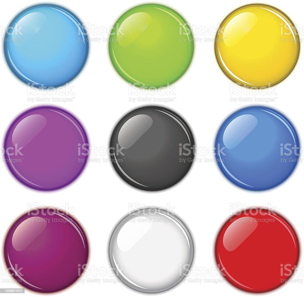 Buttons vector art illustration
