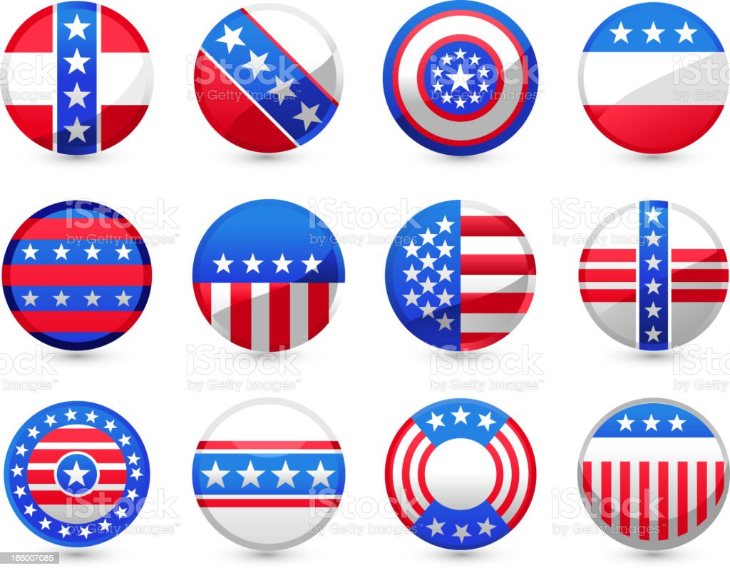 USA Buttons royalty-free stock vector art
