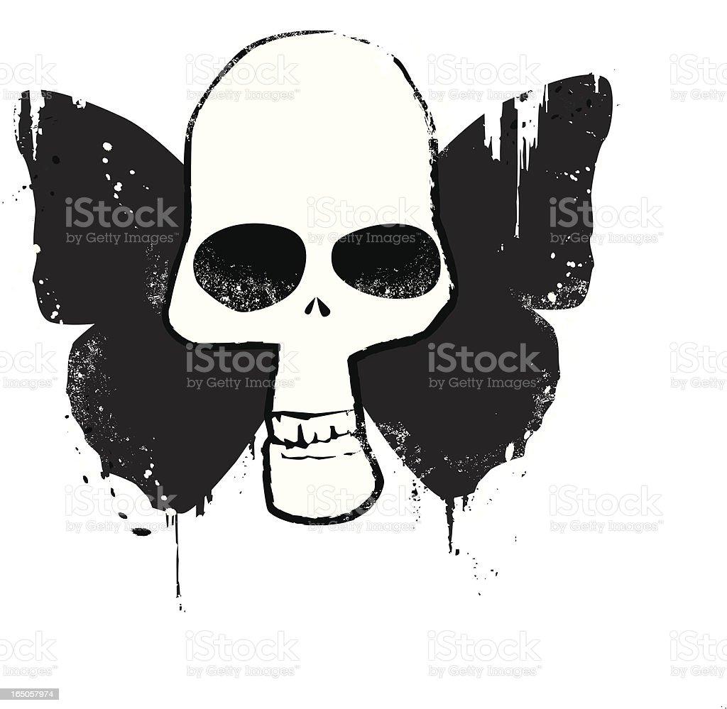 Buttterfly Skull royalty-free stock vector art