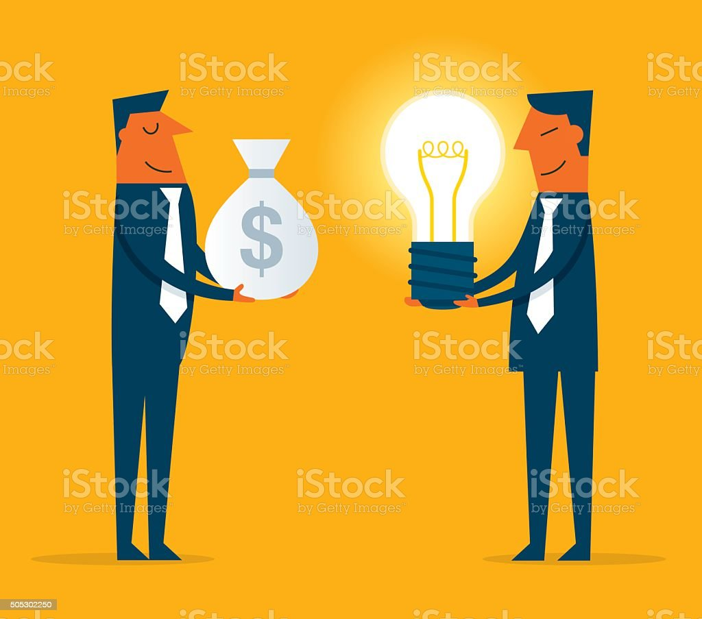 Buy idea with money vector art illustration