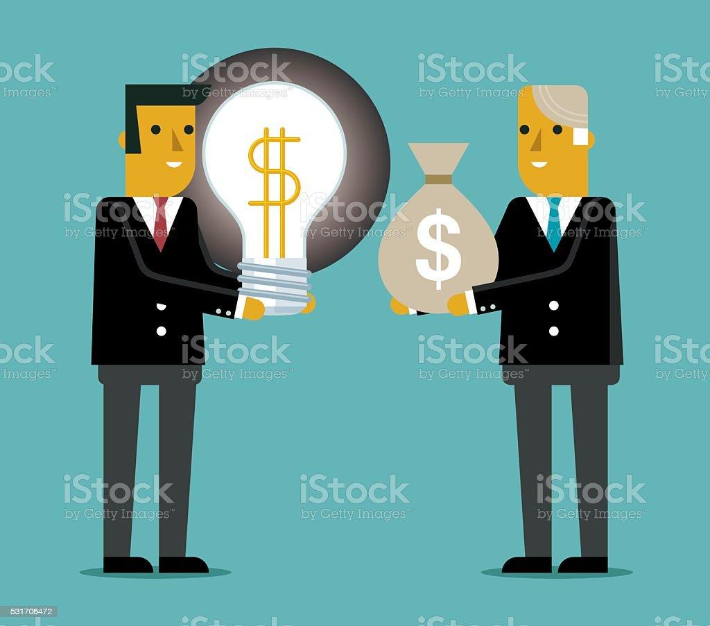 Buy idea with money vector art illustration
