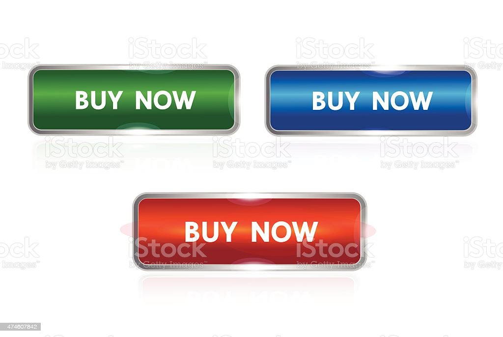 buy now button vector art illustration