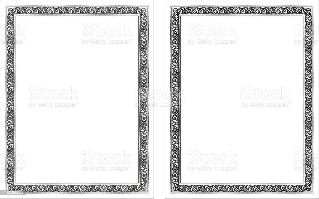 Byzantine frame decorate vector vector art illustration