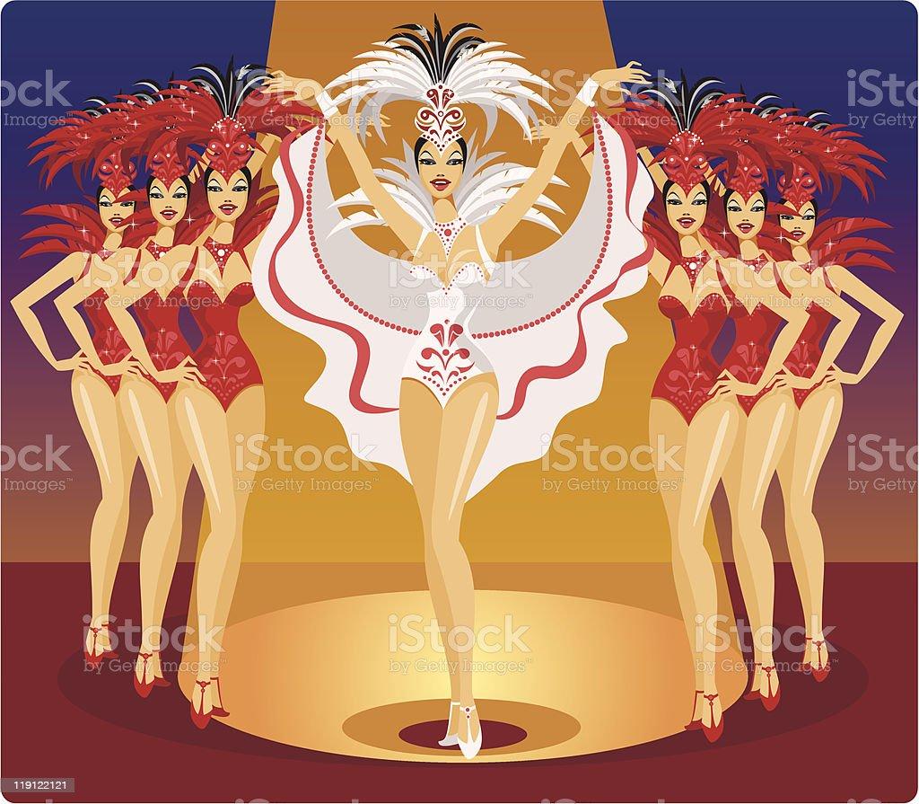 Cabaret royalty-free stock vector art