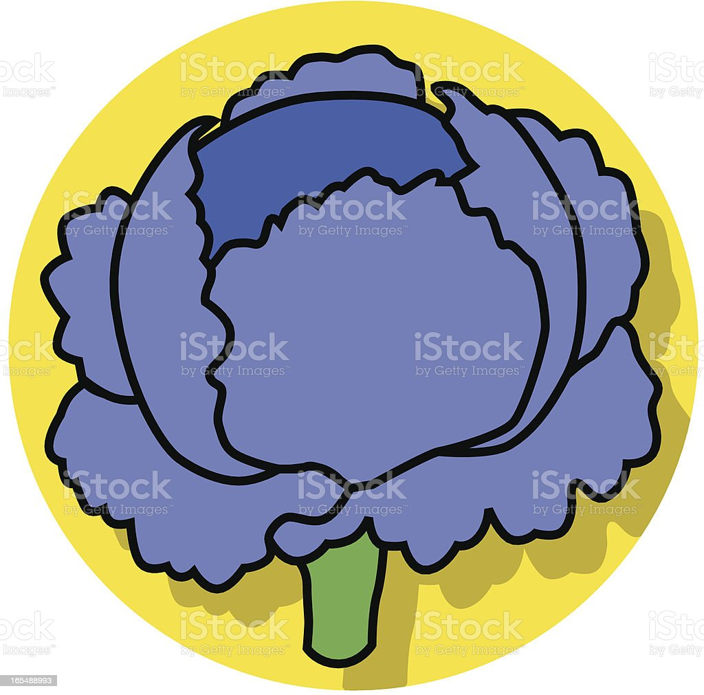 cabbage icon vector art illustration