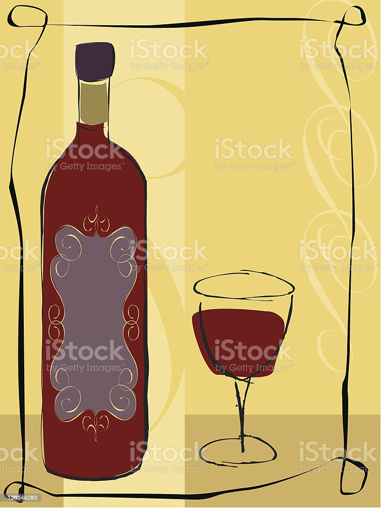 Cabernet for one vector art illustration