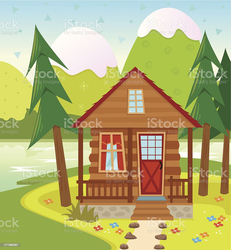 Cabin vector art illustration
