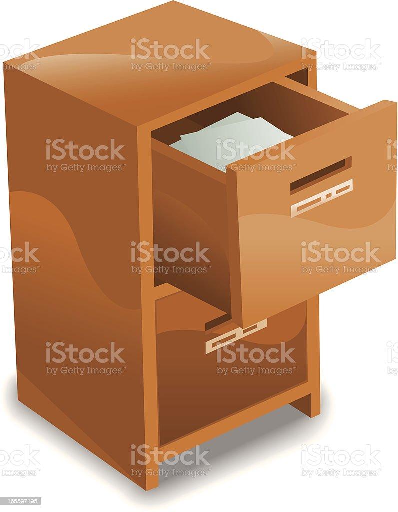 Cabinet vector art illustration