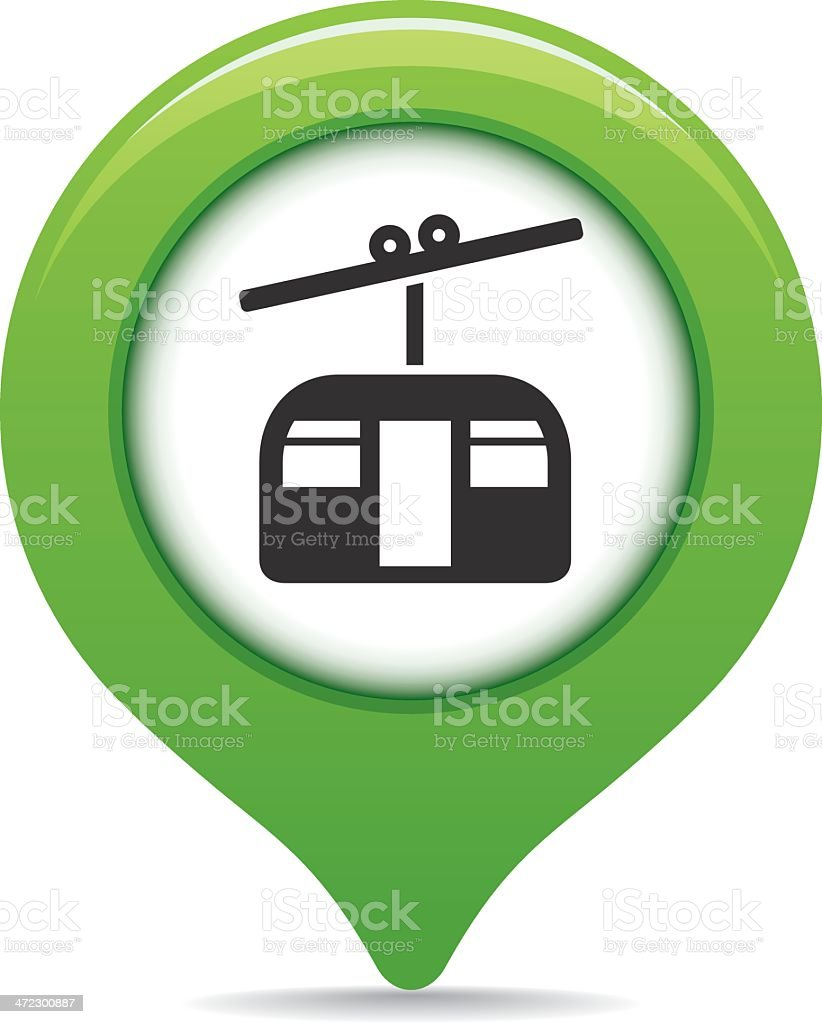 Cable car map pointer royalty-free stock vector art