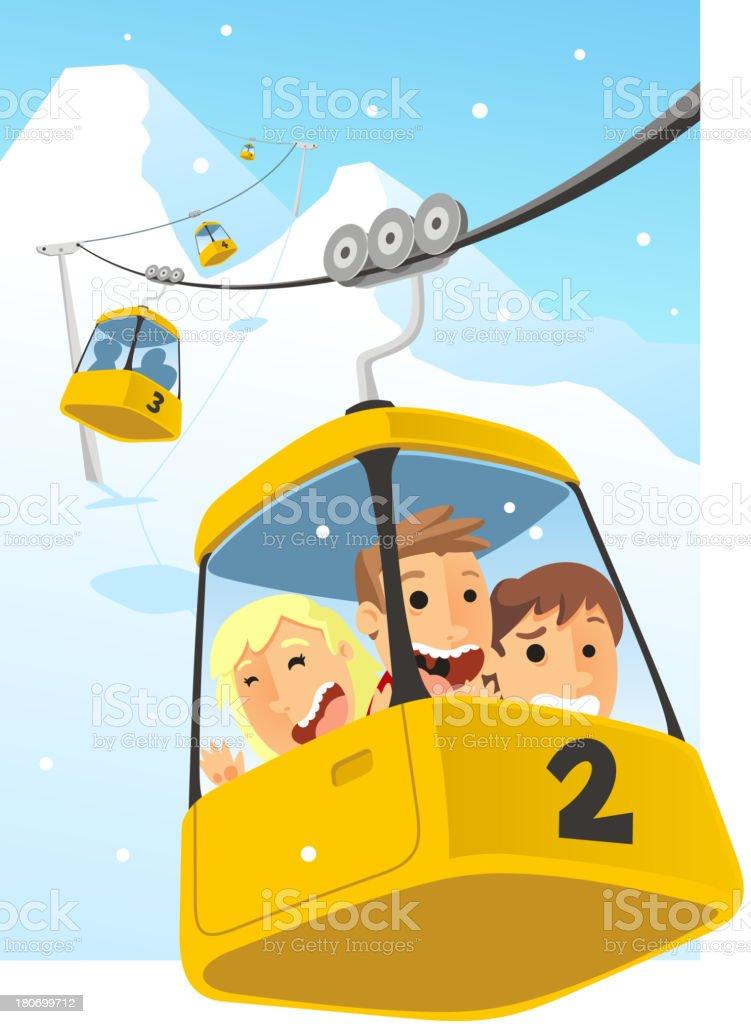 Cable car Telesferic Telecabin Gondola Cabin Ski Lift royalty-free stock vector art
