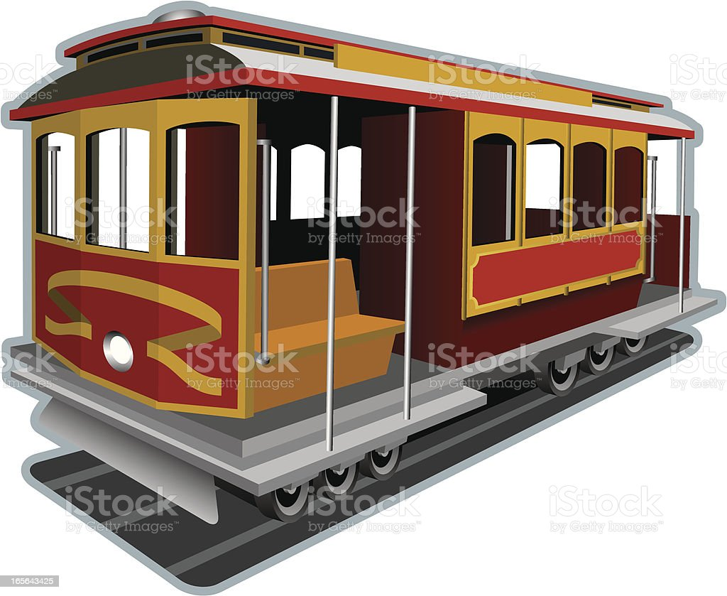 cable car vector art illustration