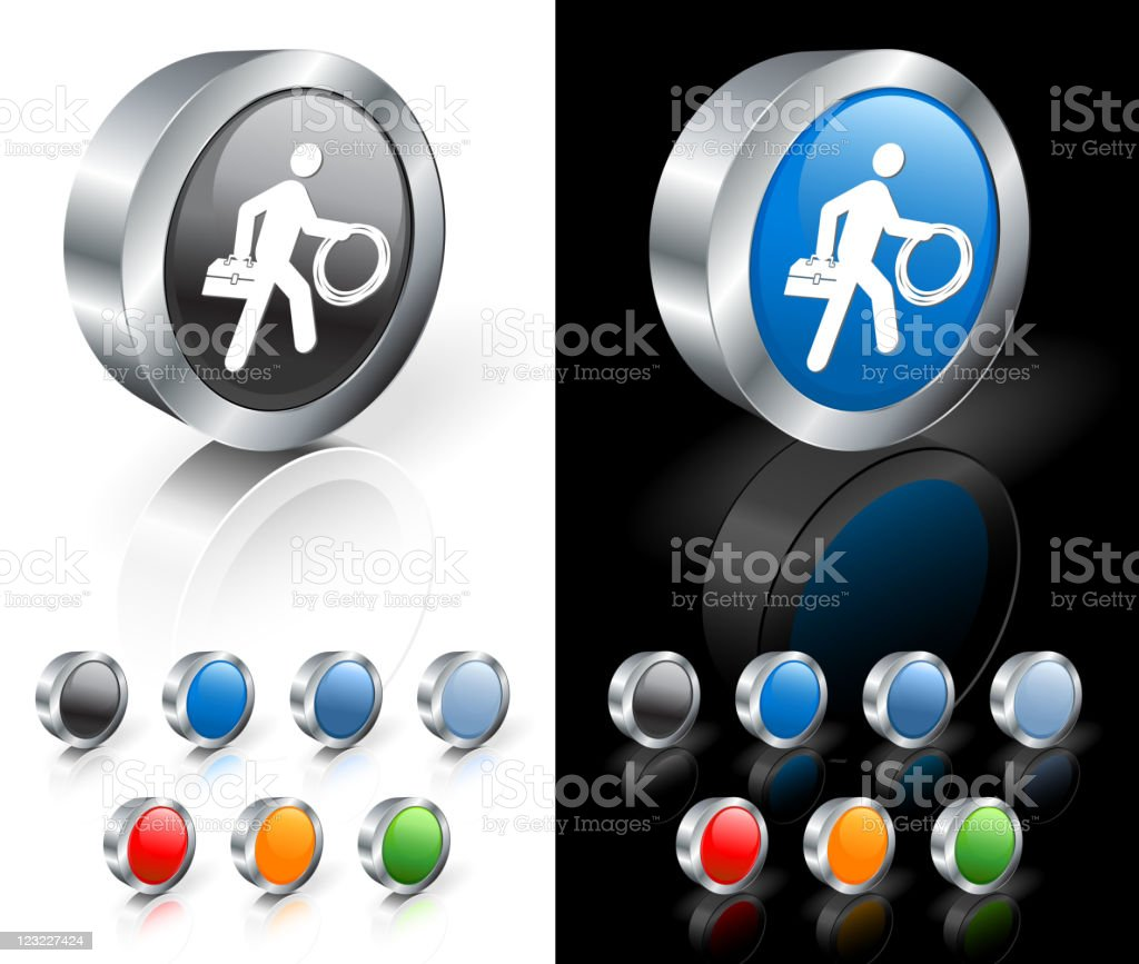 Cable guy 3D icon vector art illustration