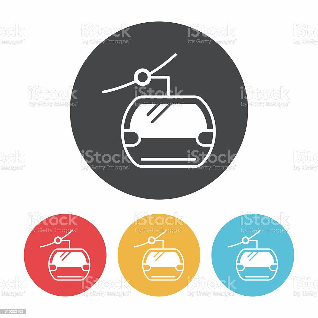 cable icon vector art illustration