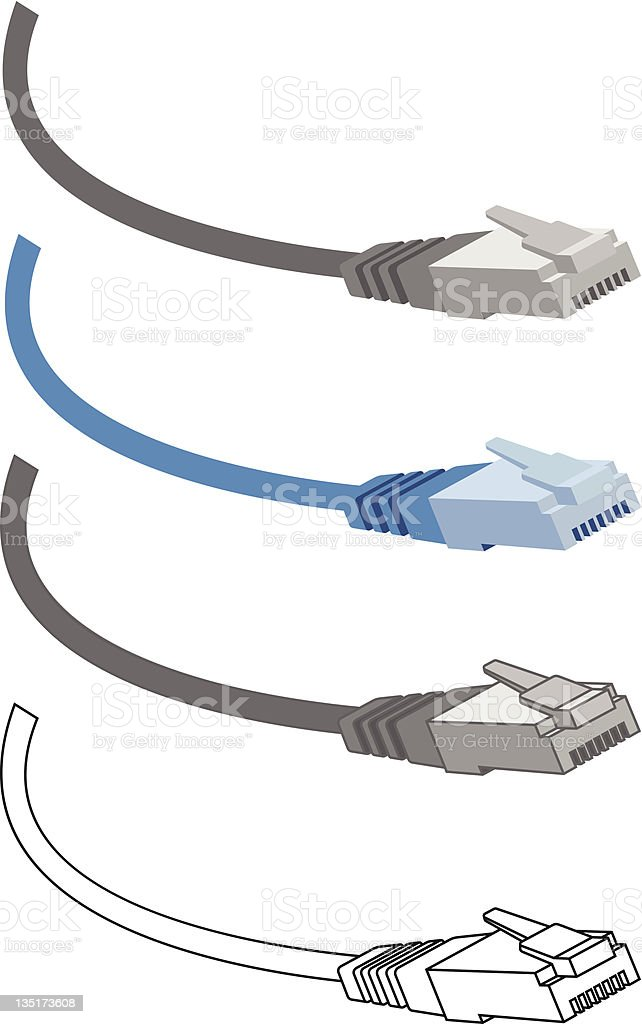 cable rj45 icon vector art illustration