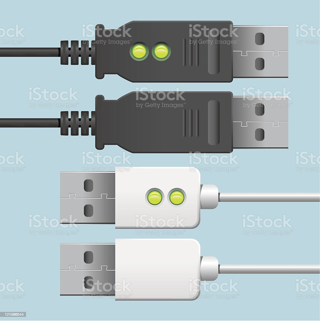 USB Cables royalty-free stock vector art