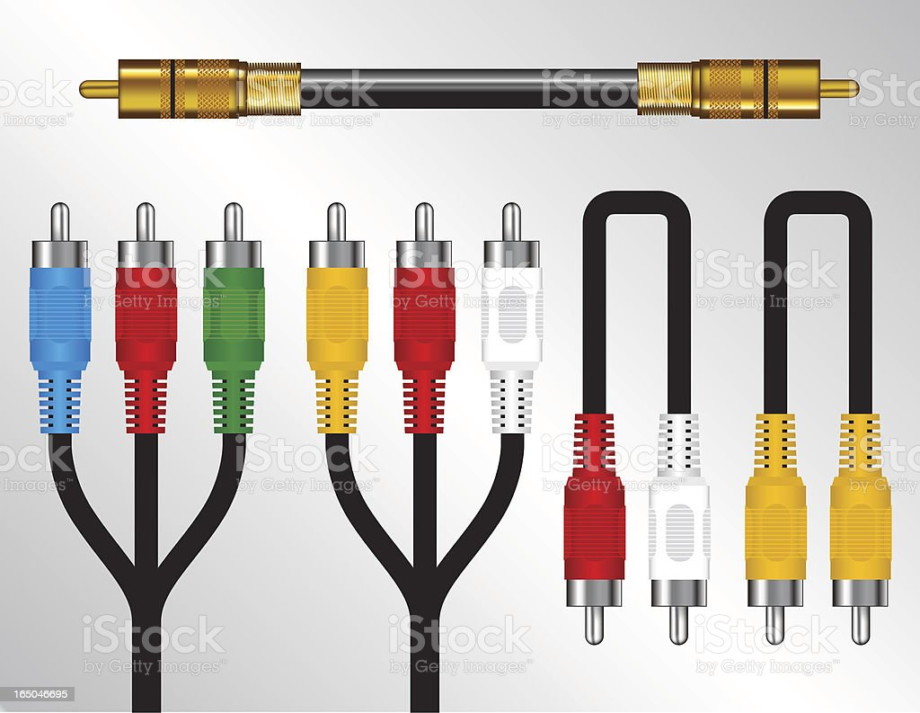 Cables vector art illustration