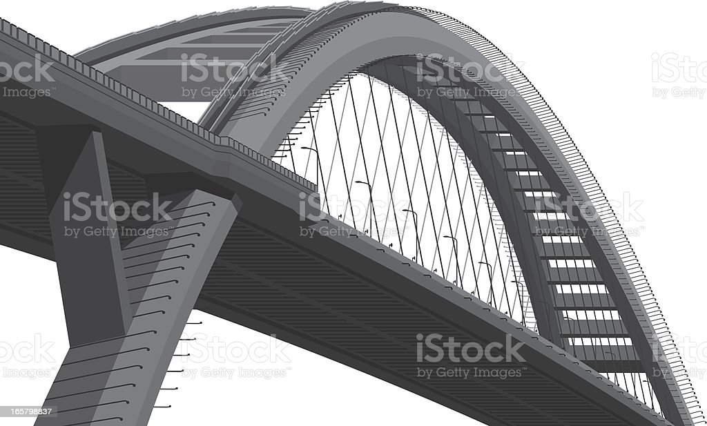 Cable-stayed Bridge vector art illustration