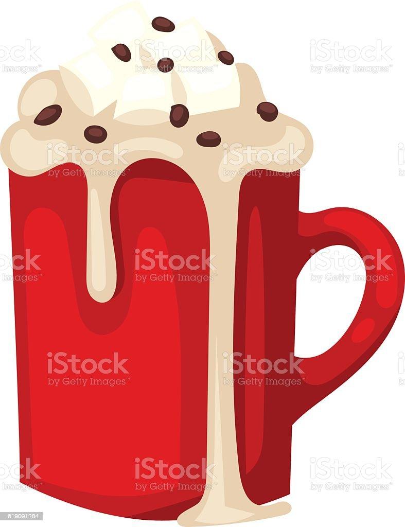 Cacao drink cup vector vector art illustration