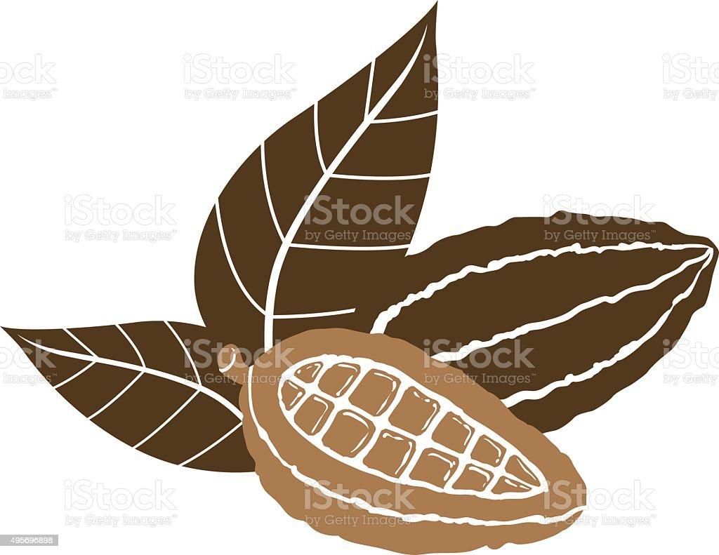 Cacao Icon vector art illustration