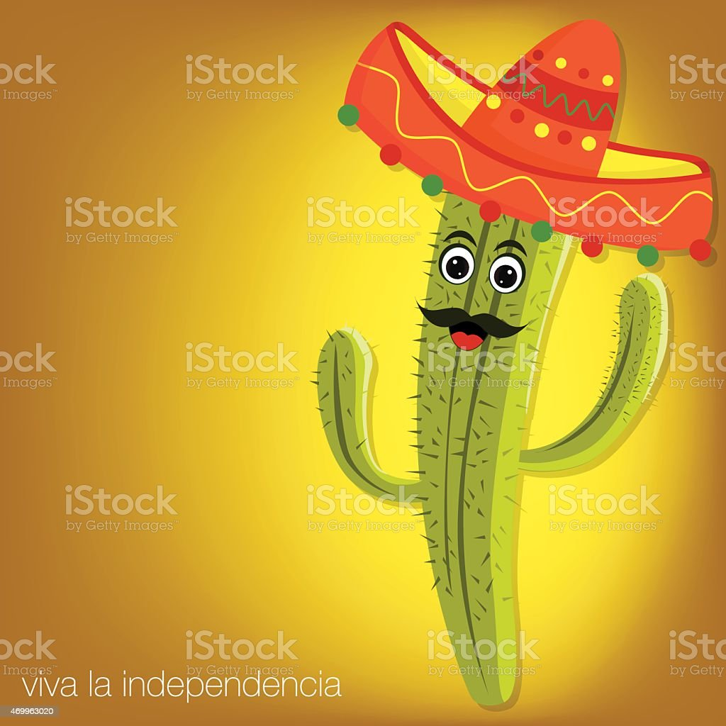 Cactus character card in vector format. vector art illustration