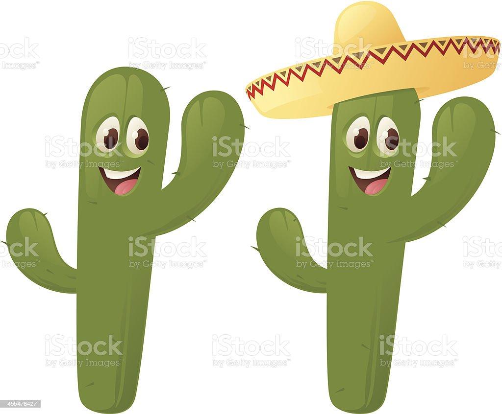Cactus Character royalty-free stock vector art