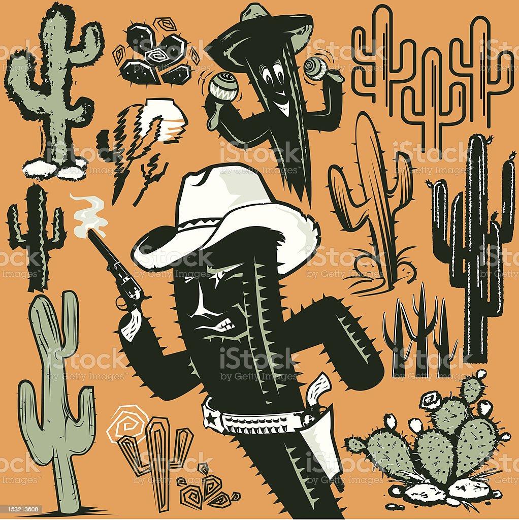 Cactus Clip Art royalty-free stock vector art