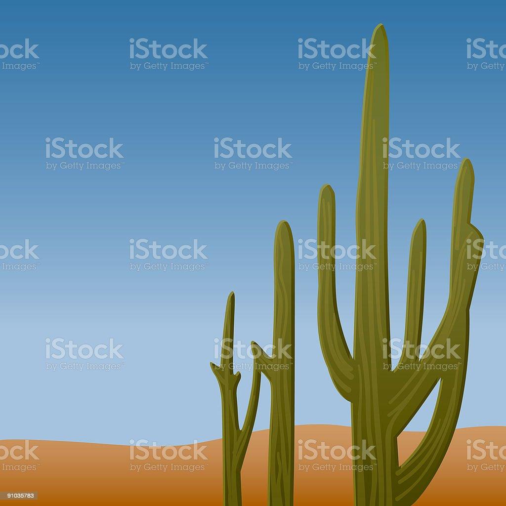 Cactus in the Desert royalty-free stock vector art