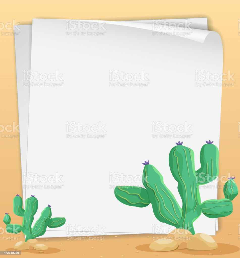 Cactus paper royalty-free stock vector art