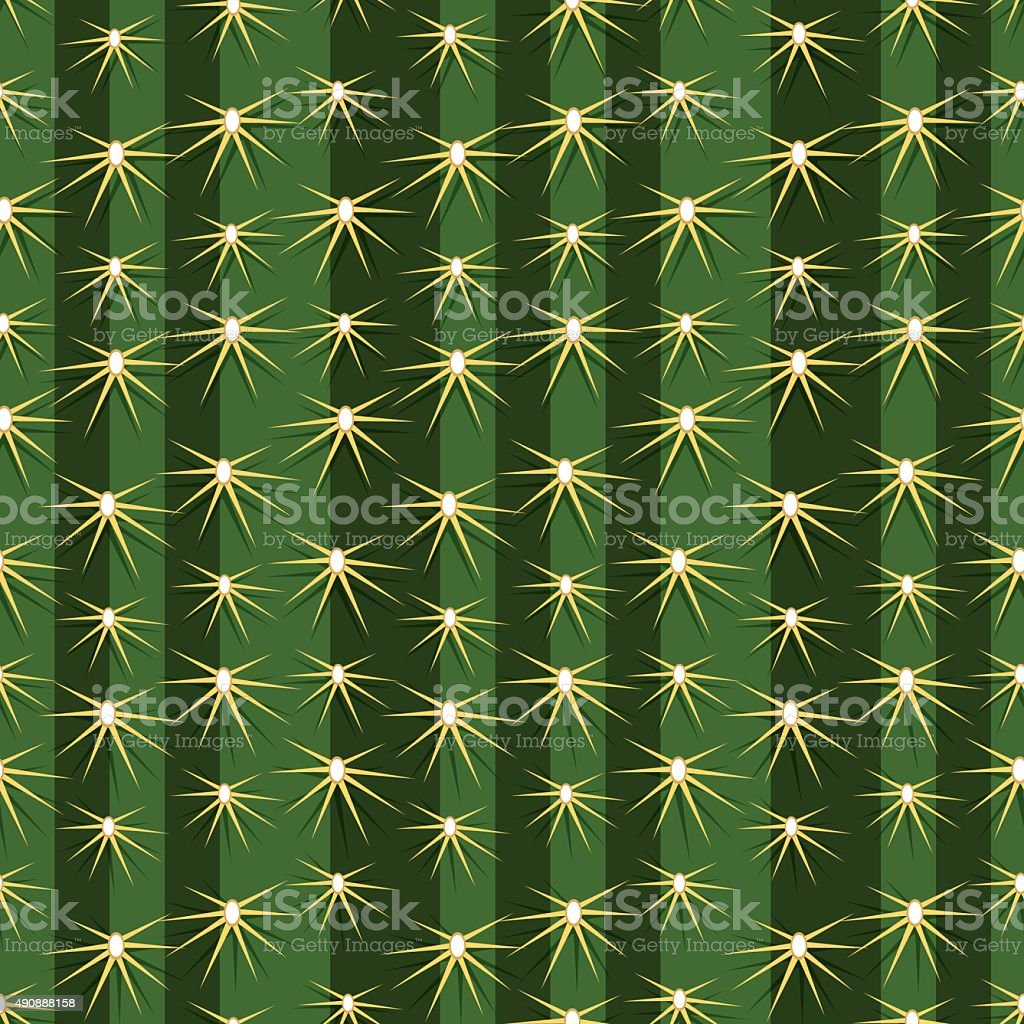 Cactus plants texture seamless pattern background vector art illustration
