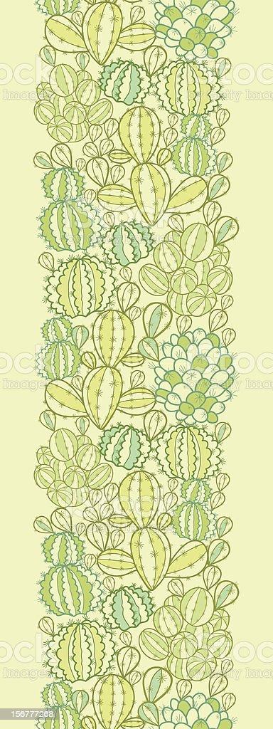 Cactus Plants Vertical Seamless Pattern Border royalty-free stock vector art