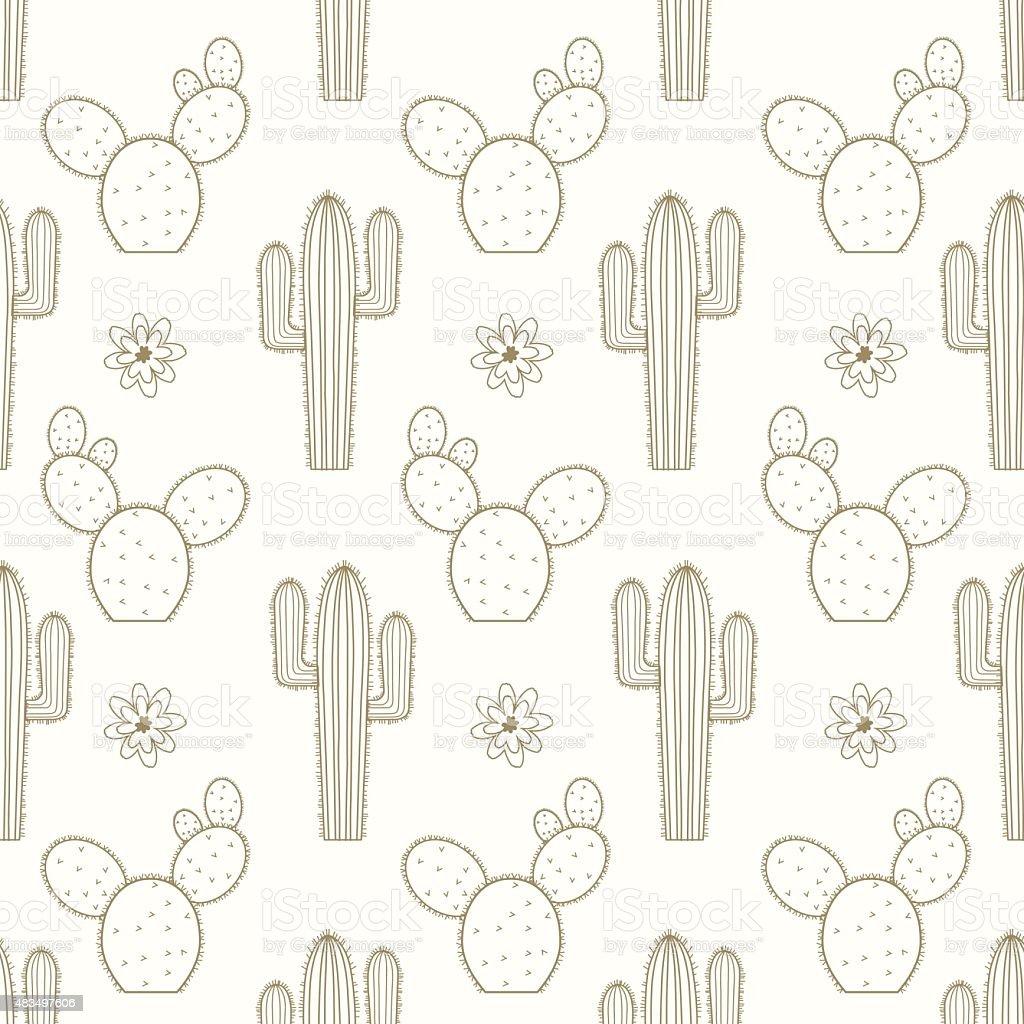 Cactus Texture vector art illustration