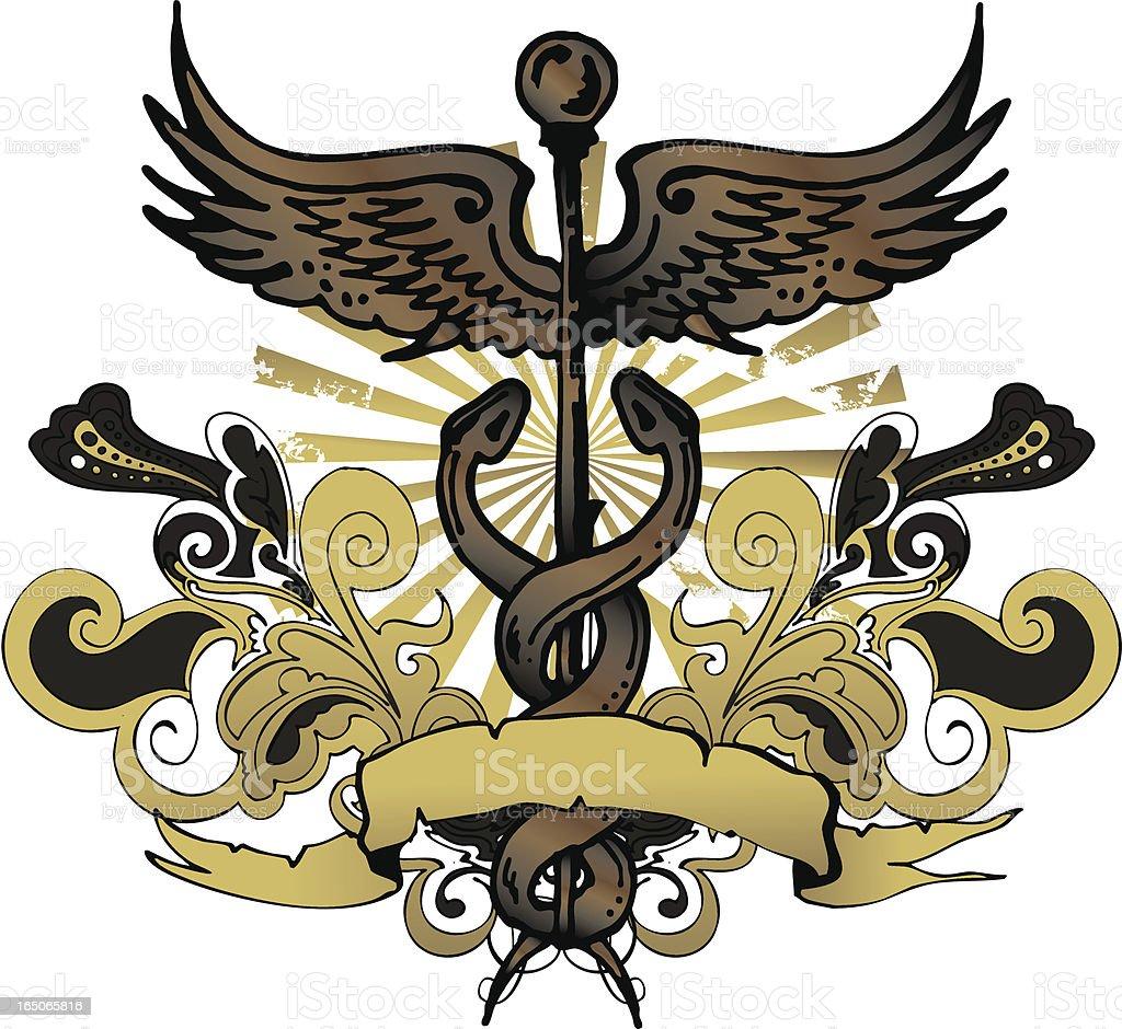 caduceus emblem royalty-free stock vector art