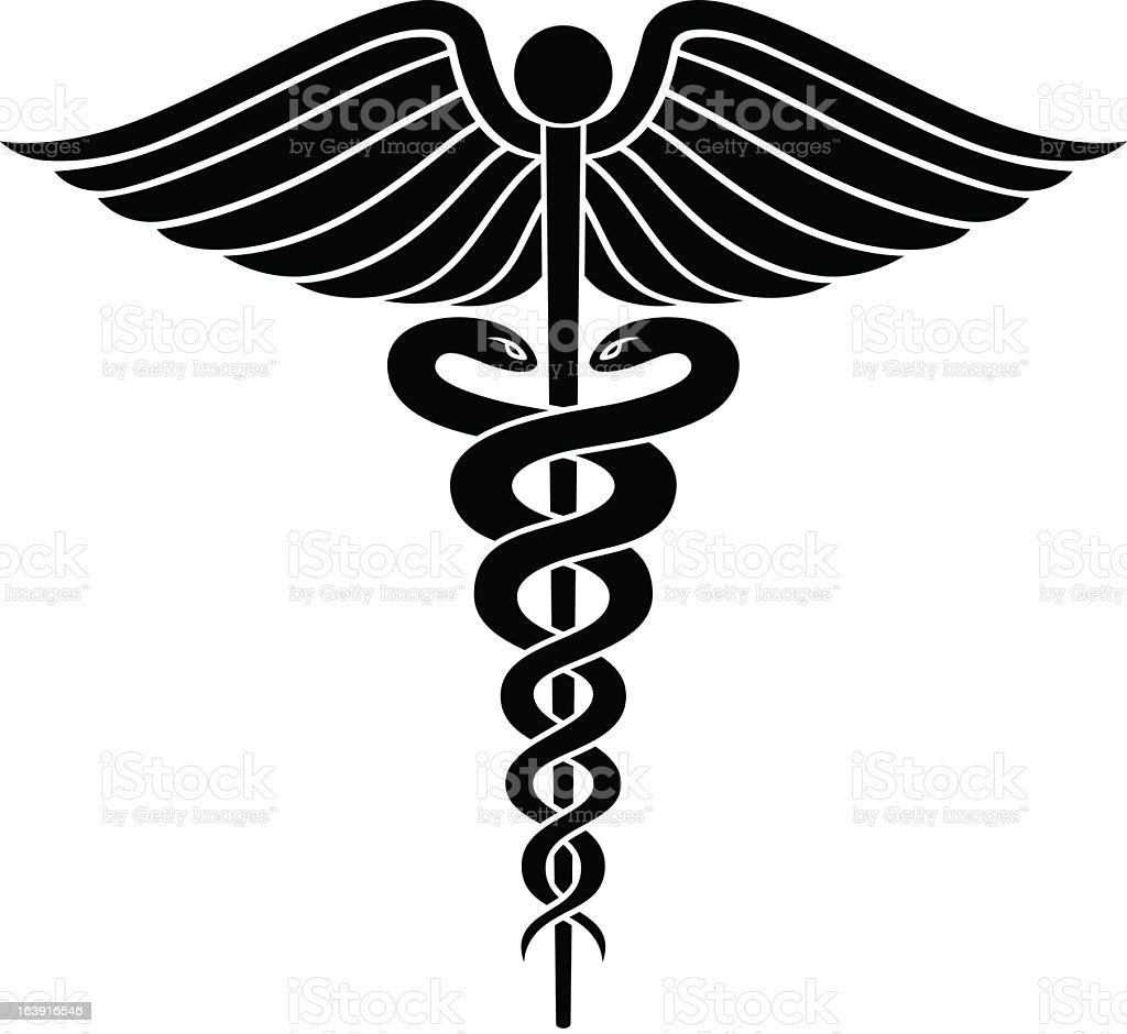 caduceus medical symbol graphic stock vector art 163916546