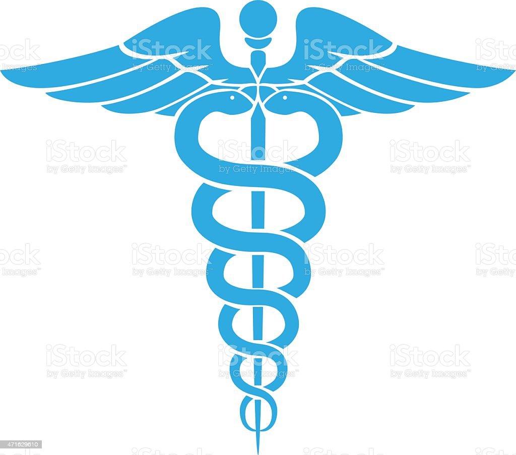 Caduceus medical symbol vector art illustration