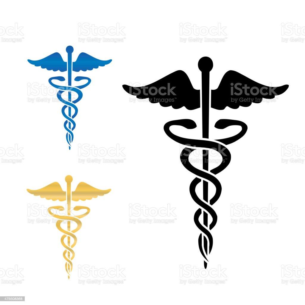 Caduceus medical symbol vector illustration. vector art illustration