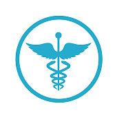 Caduceus Symbol Icon