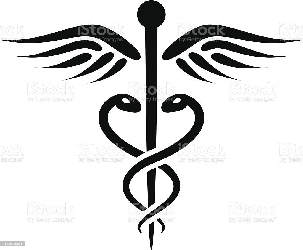 Caduceus royalty-free stock vector art
