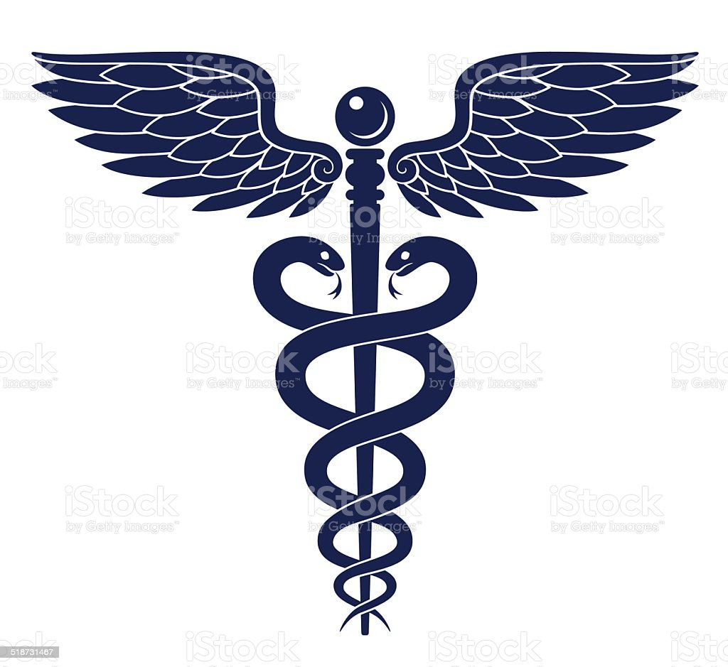 Caduceus vector art illustration