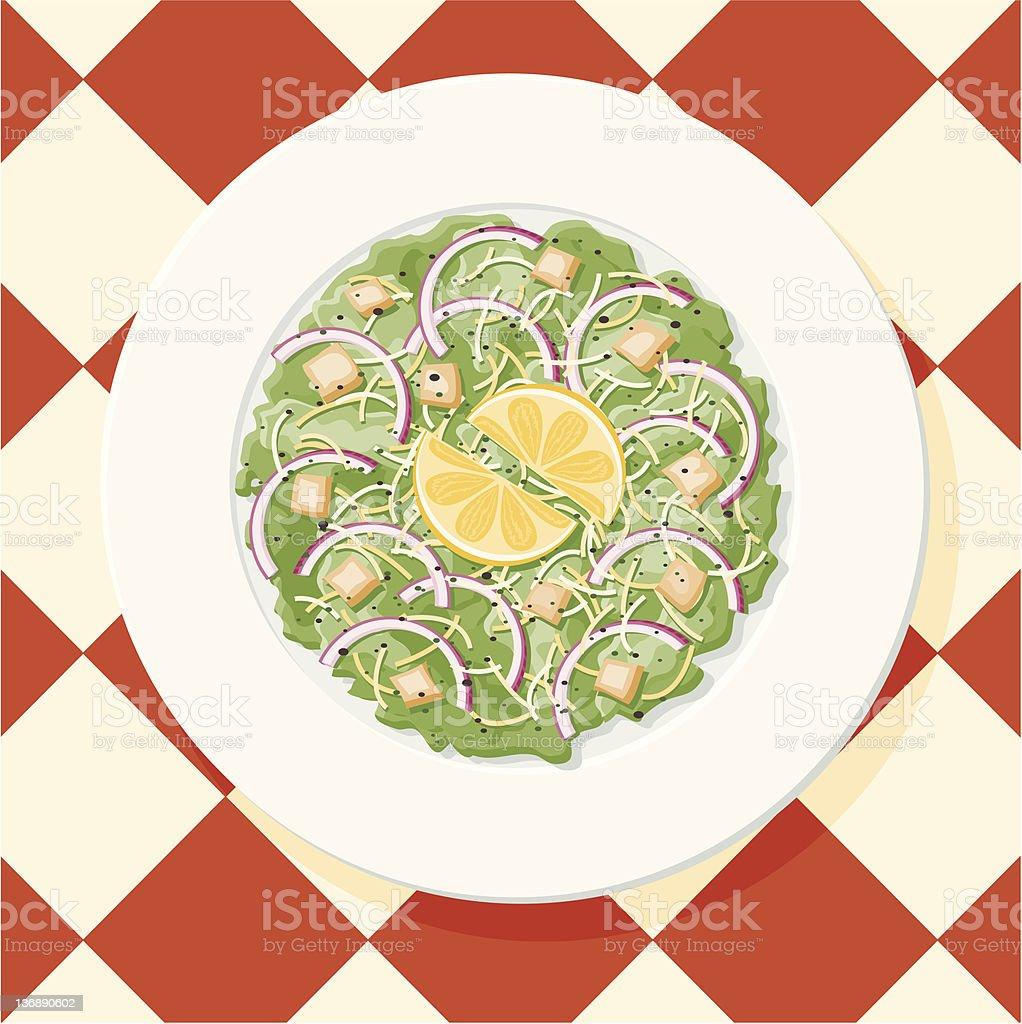 Caesar Salad vector art illustration