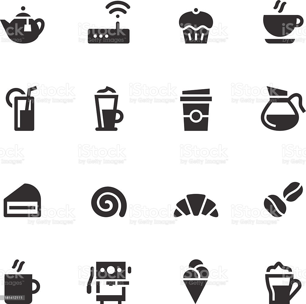 Caf? Icons - Black Series royalty-free stock vector art