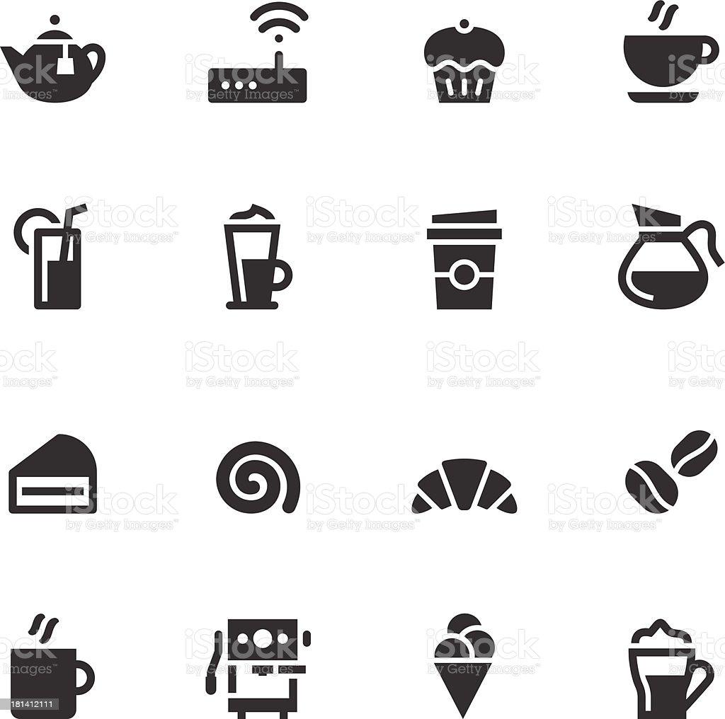 Caf? Icons - Black Series vector art illustration