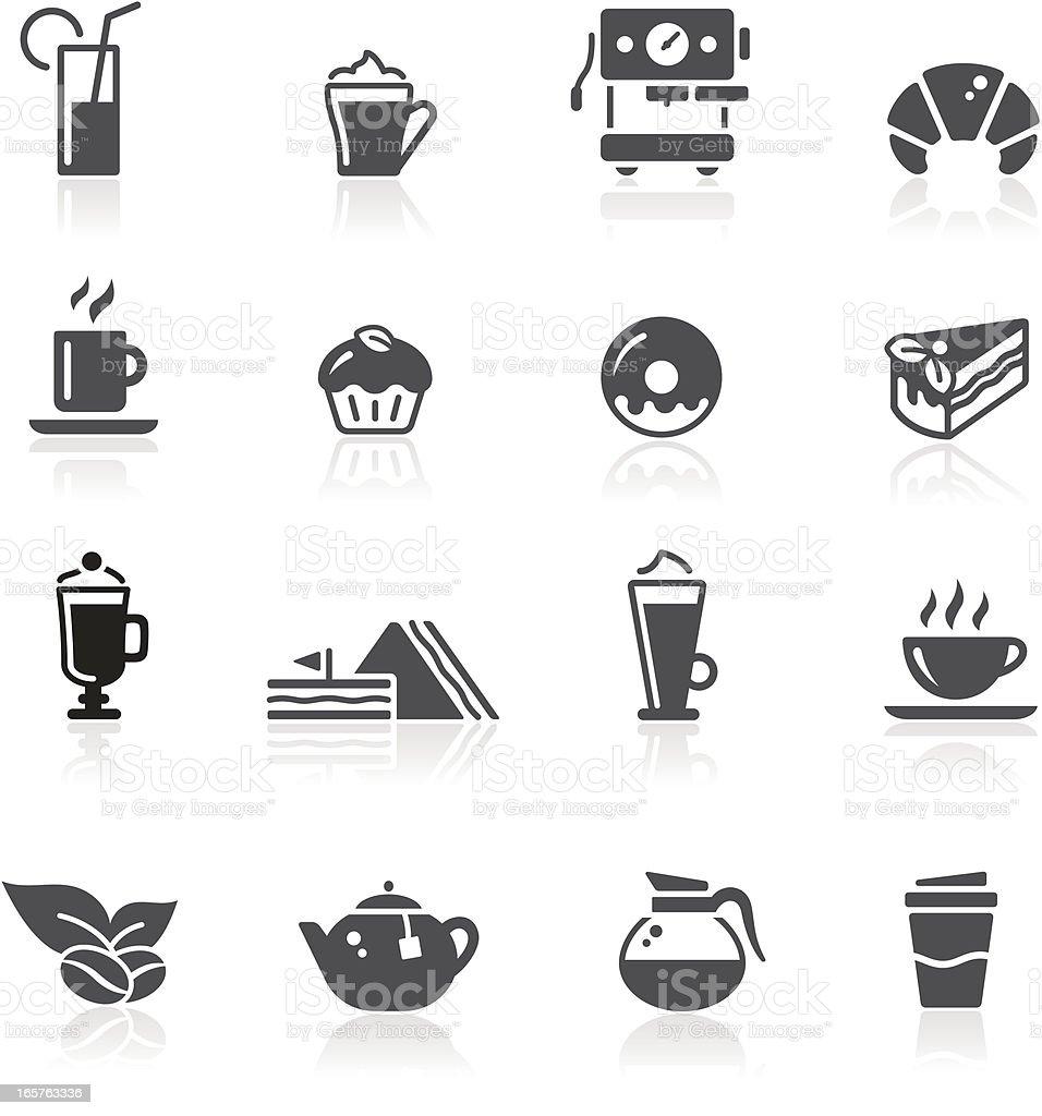 Caf? Icons vector art illustration