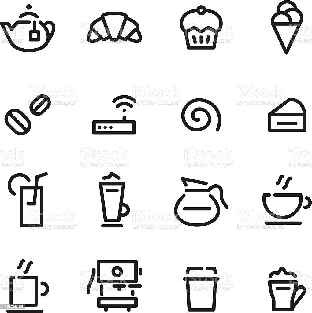 Café Icons vector art illustration