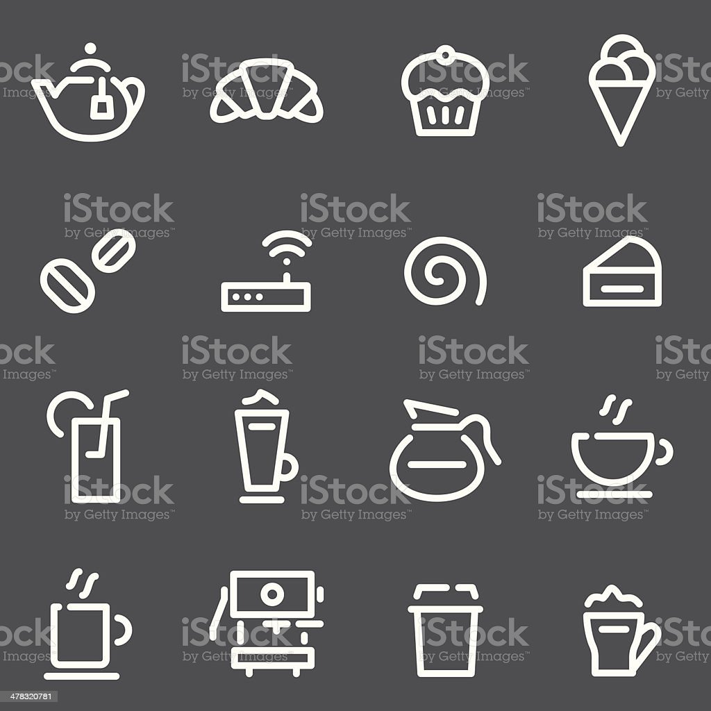 Caf? Icons - White Series vector art illustration